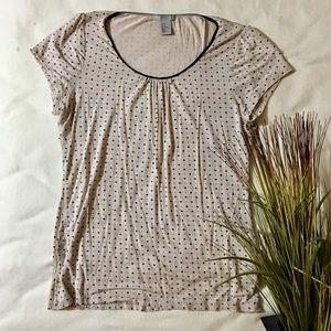 H&M black dotted shirt Size: M medium
